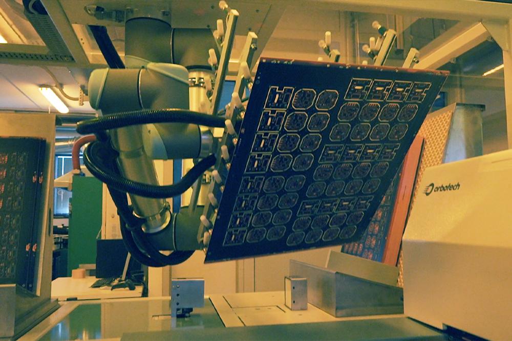Robot per stampa serigrafica