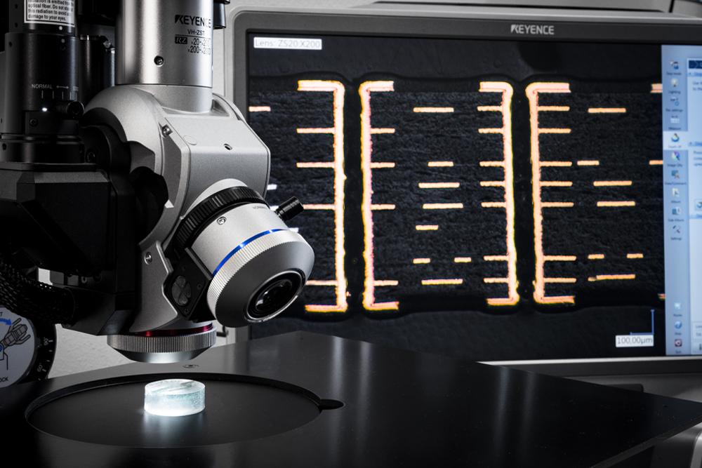 Alba PCB Microscopio provino